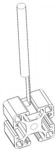 Schematische Abbildung des Nutensteinziehers