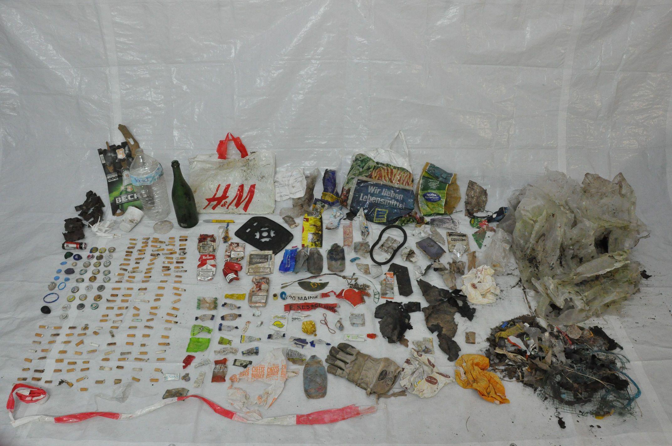 Müllwanderung 02 - Ausbeute