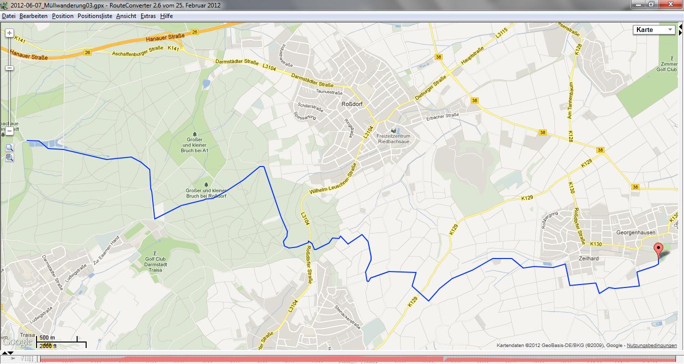 Muellwanderung 03 - Route